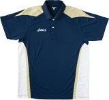 ▼asics▼アシックス XK1051-5009 ゲームシャツHS(ネイビー×プラチナ) [シリーズ:卓球用 ゲームウエア/シャツ]年度:11S1【RCP】