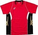 ▼asics▼アシックス XW1314-2490 ゲームシャツHS [Vレッド×ブラック][シリーズ:バレーボール ゲームウエア]年度:14S1【RCP】