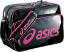 【asics】アシックス EBG223-9028 (ブラック×Rピンク) エナメルショルダーバッグL【スポーツバッグ】【RCP】
