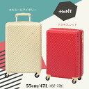 【送料無料】エース(ACE)HaNT/ハント マイン スーツケース 47L 05746 TSAロック ジッパーキャリー 本革パスポートカバープレゼント(おしゃれ...