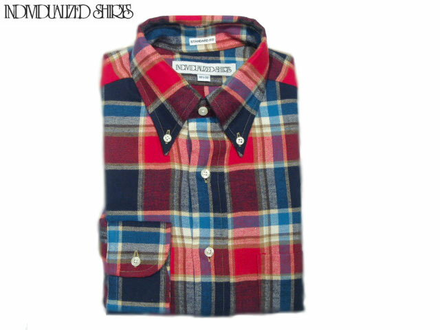 INDIVIDUALIZED SHIRTS(インディビジュアライズド シャツ)/L/S STANDARD FIT B.D. 1921 FLANNEL CHECK SHIRTS/red x blue