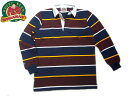 BARBARIAN�i�o�[�o���A���j/L/S RUGBY JERSEY/navy x gold x h