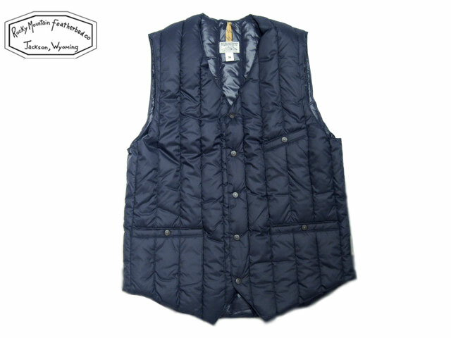 ROCKY MOUNTAIN FEATHERBED(ロッキーマウンテンフェザーベッド)/#450-512-21 SIX MONTH V-NECK VEST/navy