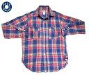 ショッピングDS 【期間限定30%OFF!】POST OVERALLS(ポストオーバーオールズ)/#3201 1102 LINEN PLAID SHIRTS(リネンプラッドシャツ)/red