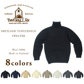Inverallan Shetland Wool Turtleneck Sweater