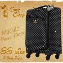 ショッピングミニー アウトレット ディズニー かわいい ミニー ソフトキャリー スーツケース キャリーケース キャリーバッグ キャリーバッグ キャリー DISNEY 旅行鞄 小型 SSサイズ 機内持ち込み B-AE-51302