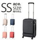 ショッピングキャリーバッグ スーツケース エース AE-05744 キャリーケース キャリーバッグ 送料無料 Sサイズ ハードキャリー 小型 TSAロック