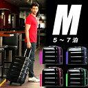 スーツケース W1-6016-60 中型 キャリーケール Mサイズ 4日5日6日 ブラックカラー