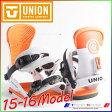 2016 ユニオン メンズ Contact コンタクト White Orange/ML 1530743 UNION バインディング ビンディング