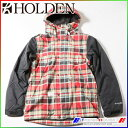 2015 ホールデン スノージャケット Varsity Jacket RED PLAID-BLACK/M HOLDEN VJK-F14-N-JK-RPB-M align=
