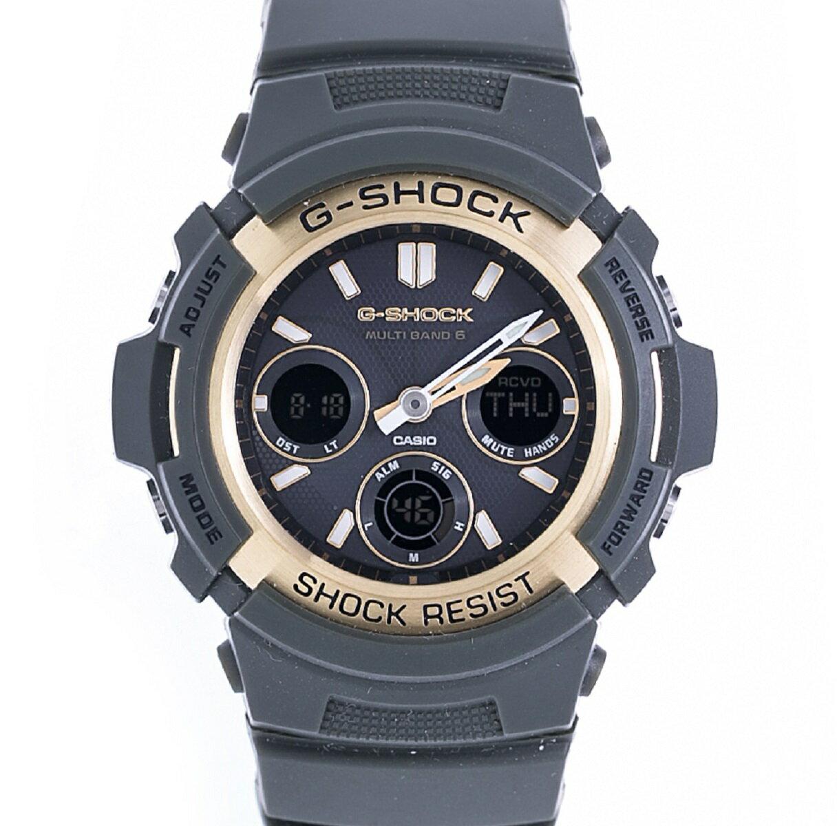 カシオ CASIO G-SHOCK AWG-M100A-3AJF マルチバンド6 ソーラー電波時計 ラバー Rb 2012年式 未使用展示品 【トレジャースポット】【】