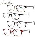 ショッピング眼鏡 ダズリン メガネフレーム おしゃれ老眼鏡 PC眼鏡 スマホめがね 伊達メガネ リーディンググラス 眼精疲労 アジアンフィット dazzlin DZF2561 全4カラー 52サイズ スクエア メンズ レディース