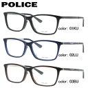 ポリス メガネフレーム おしゃれ老眼鏡 PC眼鏡 スマホめがね 伊達メガネ リーディンググラス 眼精疲労 アジアンフィット POLICE VPLA13J 全3カラー 54サイズ 国内正規品 スクエア ユニセックス メンズ レディース