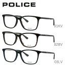 ポリス メガネフレーム おしゃれ老眼鏡 PC眼鏡 スマホめがね 伊達メガネ リーディンググラス 眼精疲労 アジアンフィット POLICE VPLB26J 全3カラー 54サイズ ウェリントン ユニセックス メンズ レディース