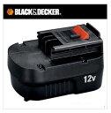【ブラック&デッカー】 B&D 12Vスライド式バッテリーパック 電池 電動工具用バッテリー A12 電池パック