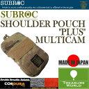 """SUBROC(サブロック)ショルダーポーチ """"プラス""""マルチカム02P03Sep16"""