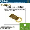 SUBROC(サブロック)アド オンDリングコヨーテブラウン02P03Sep16