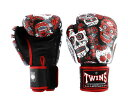 TWINS SPECIAL ボクシンググローブ 10oz 赤 黒 /ボクシング/ムエタイ/グローブ/キック/フィットネス/本革製/ツインズ
