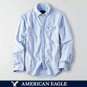 アメリカンイーグル メンズ シャツ 長袖 ボタンダウン BLUE BIGSIZE オックスフォードシャツ ビジカジ アメカジ カジュアルウェア 人気 ブランド 通販 オシャレ かわいい 春夏物 (aet0088) 02P03Dec16