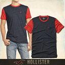ショッピングホリスター メール便 送料無料 ホリスター メンズ Tシャツ 正規 半袖 Must-have Contrast Detail Tee T-Shirt 胸ポケット丸ネック ブラック グレー 通販