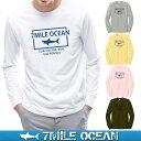 メール便 送料無料 7MILE OCEAN メンズ 長袖 tシャツ ロングTシャツ ロンT サメ シャーク マリン プリント ロゴ アメカジ S M L XL XXL 大きい ビッグサイズ対応 秋冬物