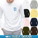 【スマホでさらに+P10倍 1/12迄】メール便 送料無料 7MILE OCEAN メンズ 長袖 tシャツ ロングTシャツ ロンT 無地 シャーク サメ 鮫 プリント ロゴ アメカジ S M L XL XXL 大きい ビッグサイズ対応 秋冬物 02P03Dec16