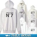 7MILE OCEAN メンズ プルオーバ パーカー バックプリント ヘビーウェイト 厚手 裏起毛 スウェット スエット トップス 無地 人気 ブランド アメカジ アウトドア ストリート おしゃれ 白 黒 グレー ネイビー ベージュ