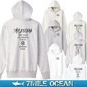 7MILE OCEAN メンズ プルオーバ パーカー バックプリント ヘビーウェイト 厚手 裏起毛 スウェット スエット トップス 無地 人気 ブランド アメカジ アウトドア ストリート おしゃれ 白 黒 グレー ネイビー ベージュ 02P03Dec16