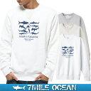 【スマホでさらに+P10倍 1/12迄】7MILE OCEAN メンズ トレーナー スウェット スエット トップス プリント ロゴ 人気ブランド アメカジ アウトドア ストリート サメ シャーク 鮫 おしゃれ ヘビーウェイト 裏起毛 厚手 ホワイト グレー ビックサイズ 大き目 02P03Dec16
