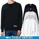 7MILE OCEAN メンズ トレーナー スウェット スエット トップス プリント 無地 サメ シャーク ロゴ 人気 ブランド アメカジ アウトドア ストリー...