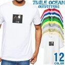 ショッピングアウトドア メンズ Tシャツ 半袖 プリント アメカジ 大きいサイズ 7MILE OCEAN イーグル
