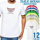 ショッピング大きいサイズ 水着 メンズ Tシャツ 半袖 プリント アメカジ 大きいサイズ 7MILE OCEAN おもしろ