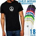 ショッピングサーフ メンズ Tシャツ 半袖 プリント アメカジ 大きいサイズ 7MILE OCEAN ピース 平和