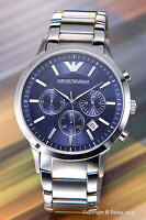 ��EMPORIOARMANI�ۥ���ݥꥪ����ޡ����ӻ���ClassicCollectionChronograph(���饷�å����쥯����󥯥�Υ����)�֥롼AR2448