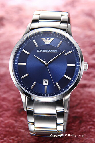 エンポリオアルマーニ 腕時計 メンズ EMPORIO ARMANI Classic Collection (クラシック コレクション) ブルー AR2477 【エンポリオ アルマーニ 時計 AR2477】【送料無料】