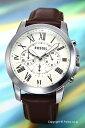 フォッシル 時計 FOSSIL 腕時計 メンズ グラント アイボリー/ブラウンレザーストラップ FS4735IE 【あす楽】