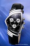 HAMILTON / ハミルトン 腕時計 Ventura(ベンチュラ) クロノグラフ ブラックレザーストラップ メンズ H24412732 【ハミルトン 時計】【あす楽】【楽ギフ包装】