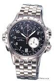 ハミルトン 腕時計 HAMILTON Khaki E.T.O(カーキ イーティーオー) ブラック メンズ H77612133 02P23Apr16