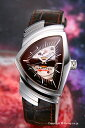 HAMILTON / ハミルトン 腕時計 Ventura Auto (ベンチュラ オート) ダークブラウン/ブラウンカーフストラップ H24515591 【ハミルトン 時計】【楽ギフ_包装】