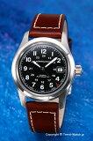 HAMILTON / ハミルトン 腕時計 Khaki Field Auto (カーキ フィールドオート) ブラック/ブラウンレザーストラップ H70455533【ハミルトン 時計】【楽ギフ包装】