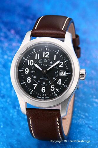ハミルトン 腕時計 HAMILTON Khaki Field Mechanichal Officer (カーキフィールド メカニカルオフィサー) ブラック H69519533