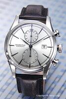 【HAMILTON】ハミルトン腕時計SpiritOfLiberty(スピリットオブリバティ)シルバー/ブラックレザーストラップH32416781
