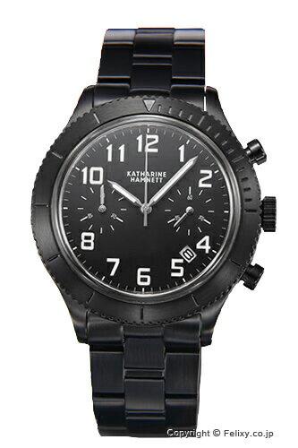 キャサリンハムネット 腕時計 メンズ レトロミリタリー クロノ オールブラック KH23E3-B31 【】 キャサリンハムネット KATHARINE HAMNETT KH23E3-B31 【送料無料】