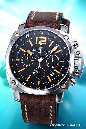 サルバトーレマーラ 腕時計 メンズ Salvatore Marra ブラック(オレンジ) SM15105-SSBKOR 【サルバトーレマーラ 腕時計 SM15105-SSBKOR】【送料無料】