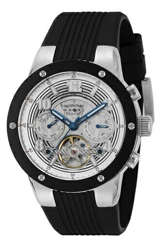 SONNE×HAORI 腕時計 Produced KOICHI IWAKI (ゾンネ×ハオリ 岩城滉一 コラボレーションモデル) ブラック×シルバー H017SS-BK 【ゾンネ 時計 H017SS-BK】【送料無料】【新作モデル】