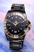Vivienne Westwood / ヴィヴィアン ウエストウッド 腕時計 Sloane Ceramic (スローン セラミック) オールブラック×ゴールド VV048GDBK 【ヴィヴィアン・ウエストウッド 時計】 02P18Jun16