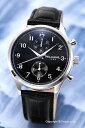 楽天トレンドウォッチWILLIAM L. ウィリアムエル 腕時計 Vintage Style Chronograph ブラック WLAC02NRCN