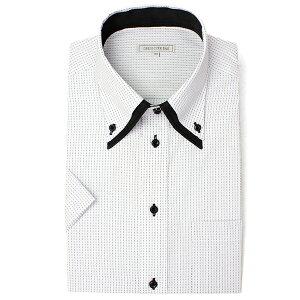 【クールな白 黒コンビ】【人気】襟高デザイン 半袖