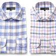 【日本製】ドレスシャツ ワイド チェック フレンチリネン 長袖ワイシャツ 白 メンズ 長袖 ワイシャツ Yシャツ 豊富なサイズ ビジネスや結婚式に カッターシャツ 多数激安通販価格 [ブランド][スリム][麻100%]【あす楽】 10P01May16