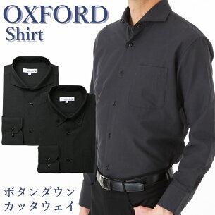 オックスフォード ワイシャツ ビジネス カジュアル カッタウェ